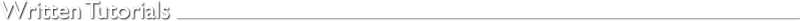Written Tutorials by Richard Janes